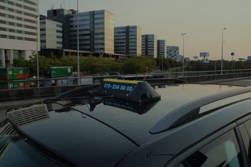 taxi bord schiphol